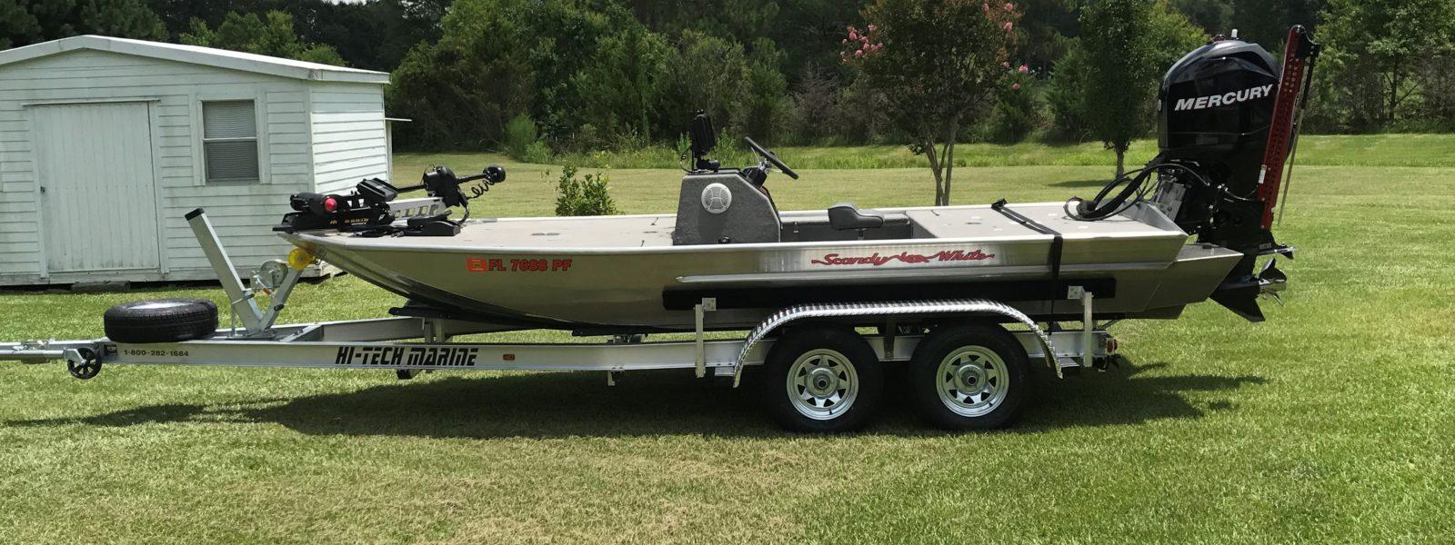Scandy White Boat
