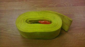 yellow winch strap